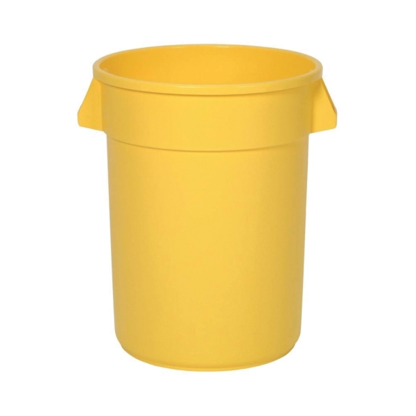 Picture of CONTINENTAL COMMERCIAL 3200YW Trash Receptacle, 32 gal Capacity, Plastic, Yellow