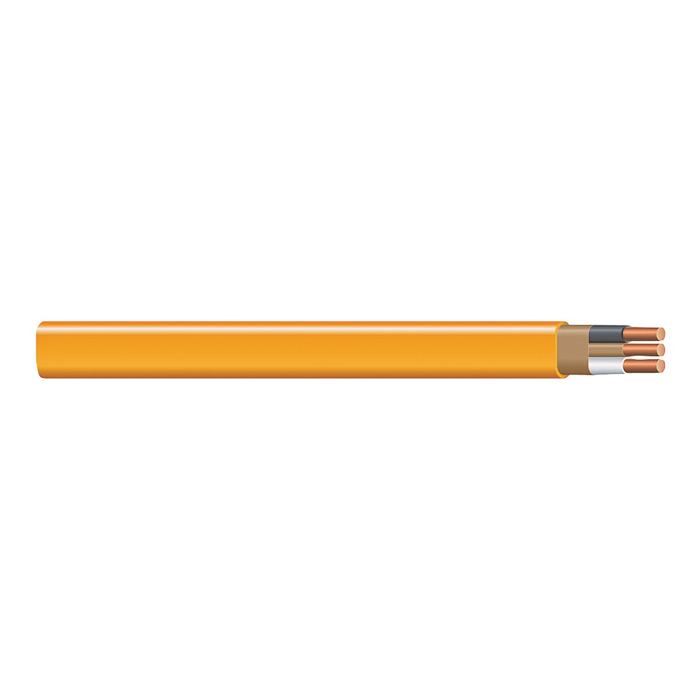 Picture of Southwire 10/2NM-WGX1000 Sheathed Cable, 10 AWG Wire, 2-Conductor, Copper Conductor, PVC Insulation, Nylon Sheath
