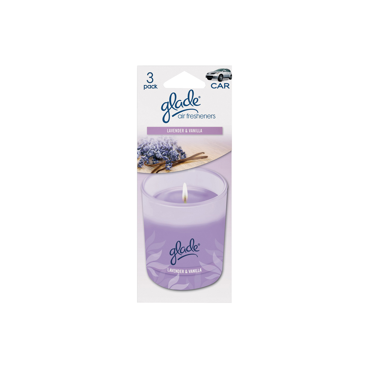 Picture of Glade 800002131 Air Freshener Card, Card, Solid, Lavender, Vanilla
