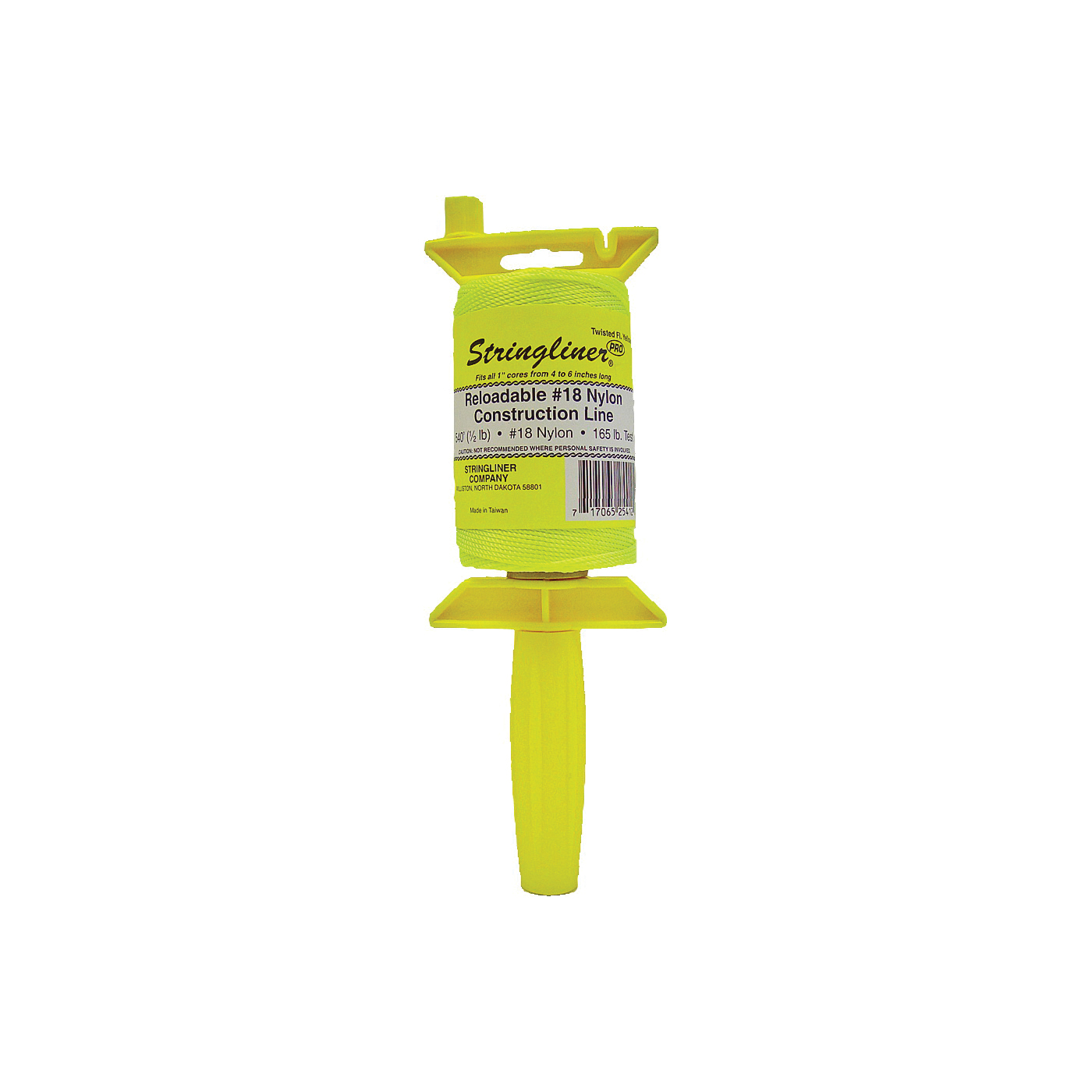 Picture of Stringliner 25412 Line Reel, 540 ft L Line, Fluorescent Yellow Line
