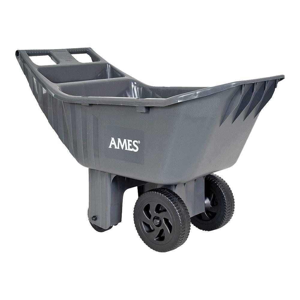 Picture of AMES 2463875 Lawn Cart, 32.5 in L x 12.14 in W x 17.26 in H Deck, Poly Deck, 2 -Wheel