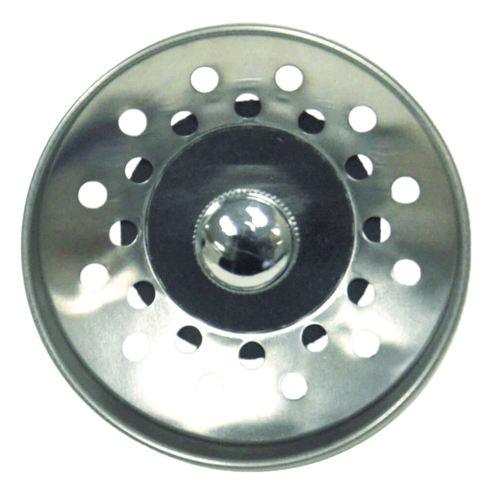 Picture of Danco 81092 Basket Strainer, 3-1/2 in Dia, Plastic/Stainless Steel, Chrome, For: Universal Lavatory and Sinks