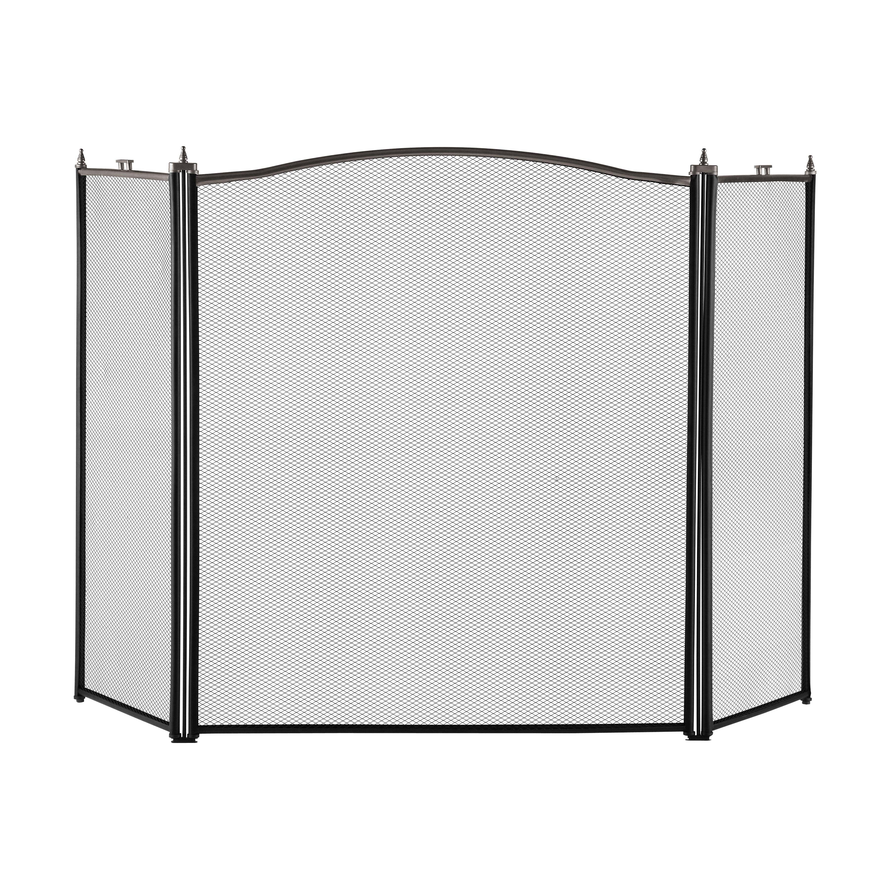 Picture of Simple Spaces C31020ASK3L Fireplace Screen, 52 in W, 30-1/2 in H, Antique Silver