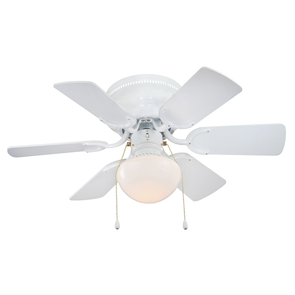 Picture of Boston Harbor CF-78108 Ceiling Fan, 6-Blade, 30 in Sweep, White Housing