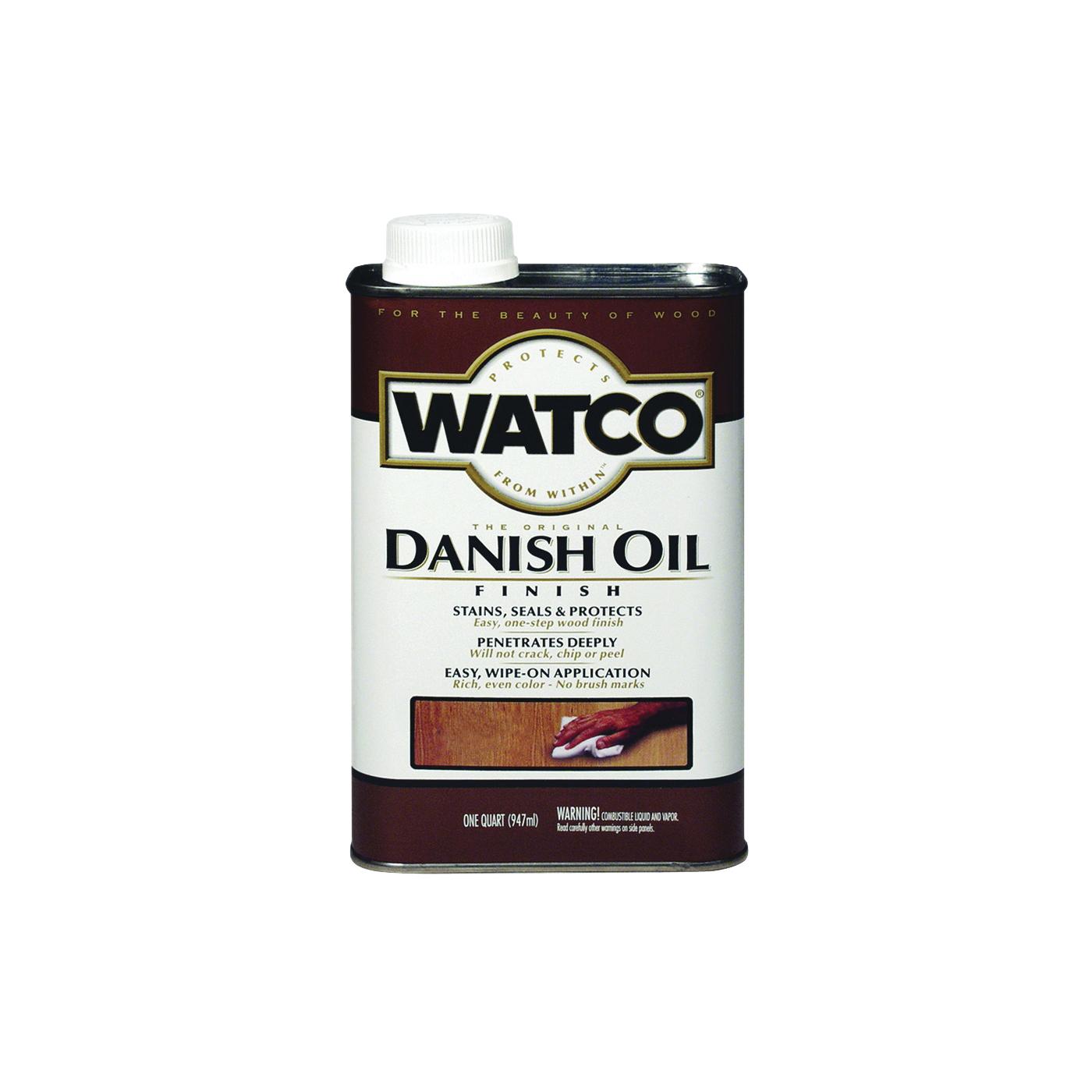 Picture of WATCO A65941 Danish Oil, Medium Walnut, Liquid, 1 qt, Can