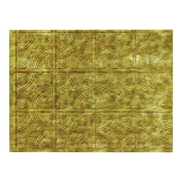 Picture of Fasade D6017 Backsplash Panel, 24 in L, 18 in W, Thermoplastic, Bermuda Bronze