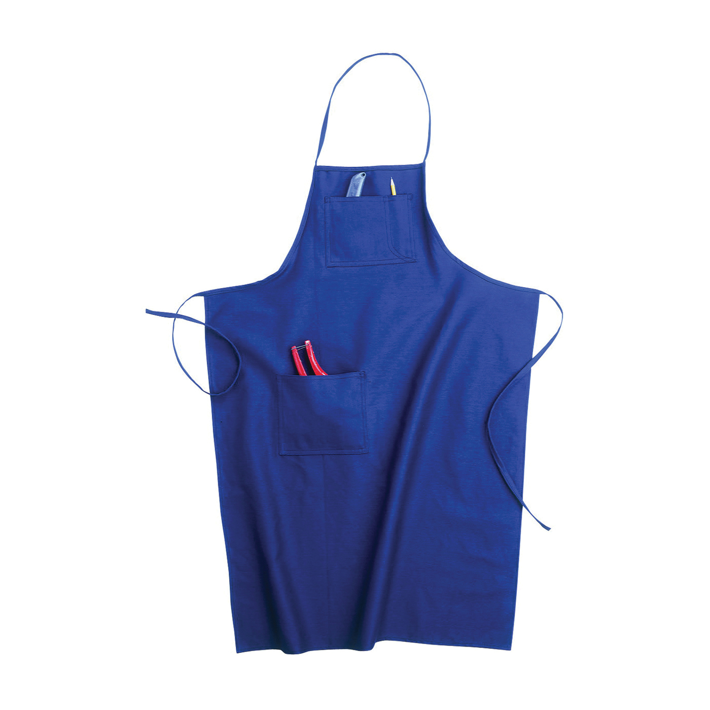 Picture of CLC Tool Works BS60 Loop Neck Bib Apron, 29 to 46 in Waist, Cotton, Blue, 3 -Pocket