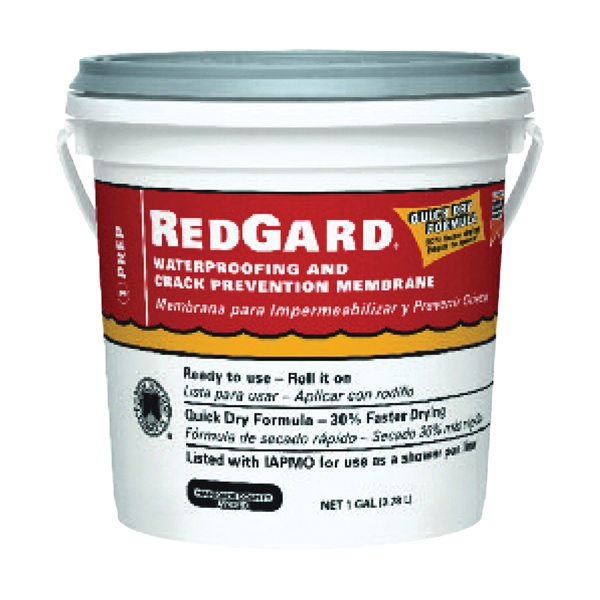 Picture of CUSTOM REDGARD LQWAF1-2 Waterproofing and Crack Prevention Membrane, Liquid, Red, 1 gal, Pail
