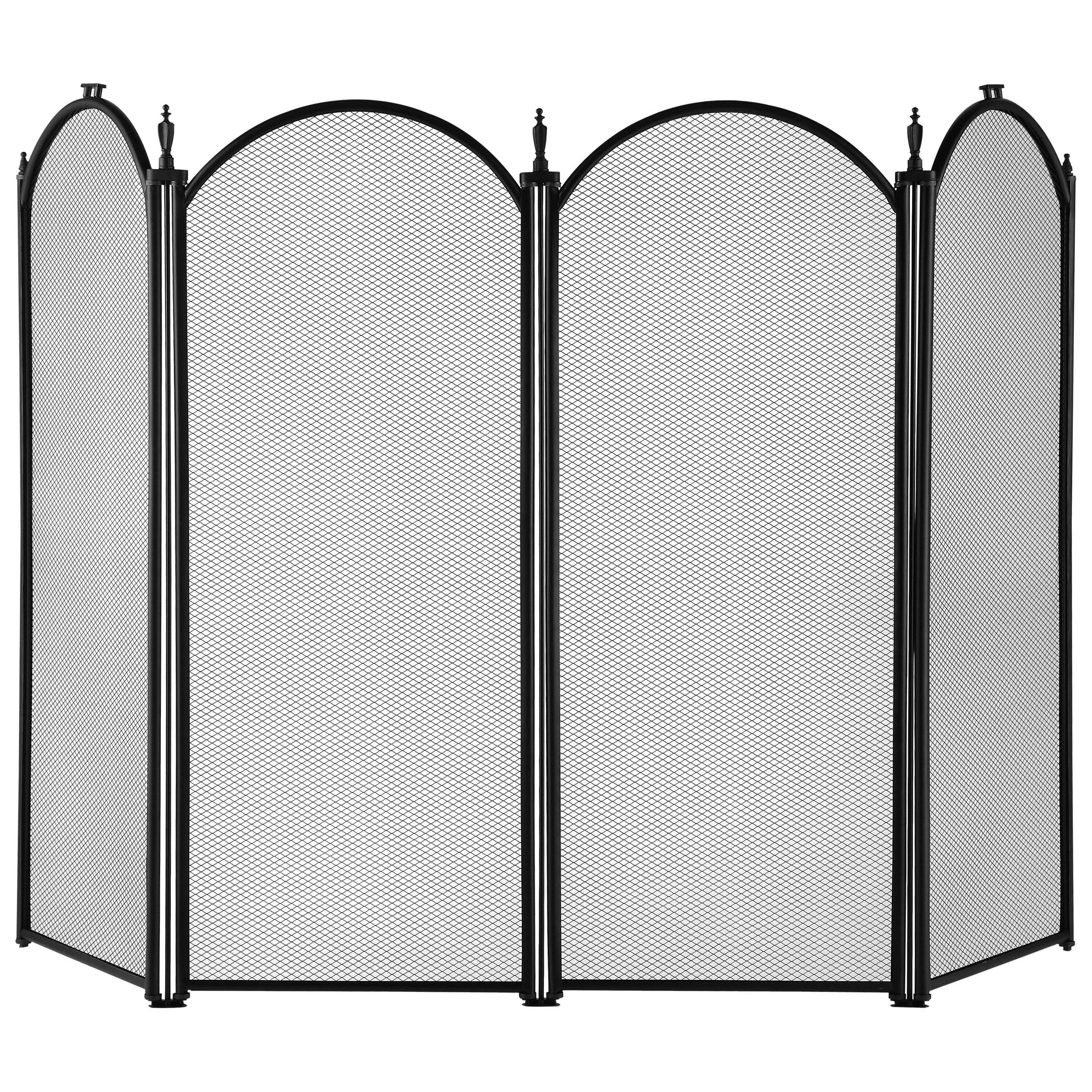 Picture of Simple Spaces S41010BK-C3L Fireplace Screen, 51-1/2 in W, 32 in H