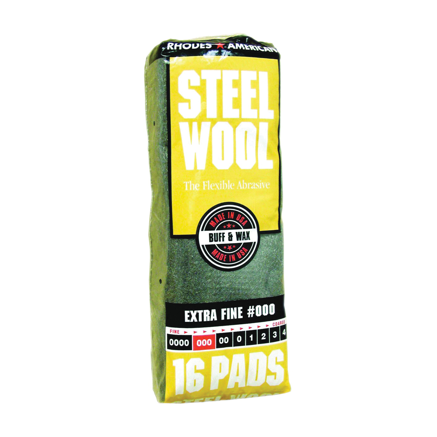 Picture of Homax 106601-06 Steel Wool Pad, #000 Grit, Extra Fine, Gray