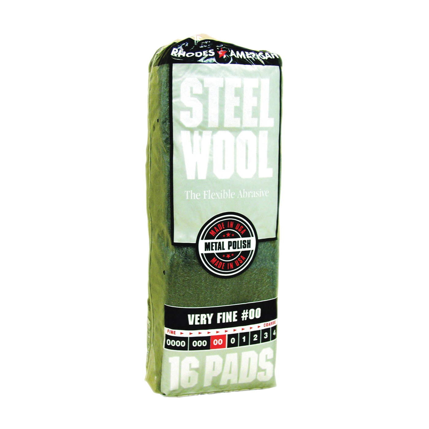 Picture of Homax 106602-06 Steel Wool Pad, #00 Grit, Very Fine, Gray