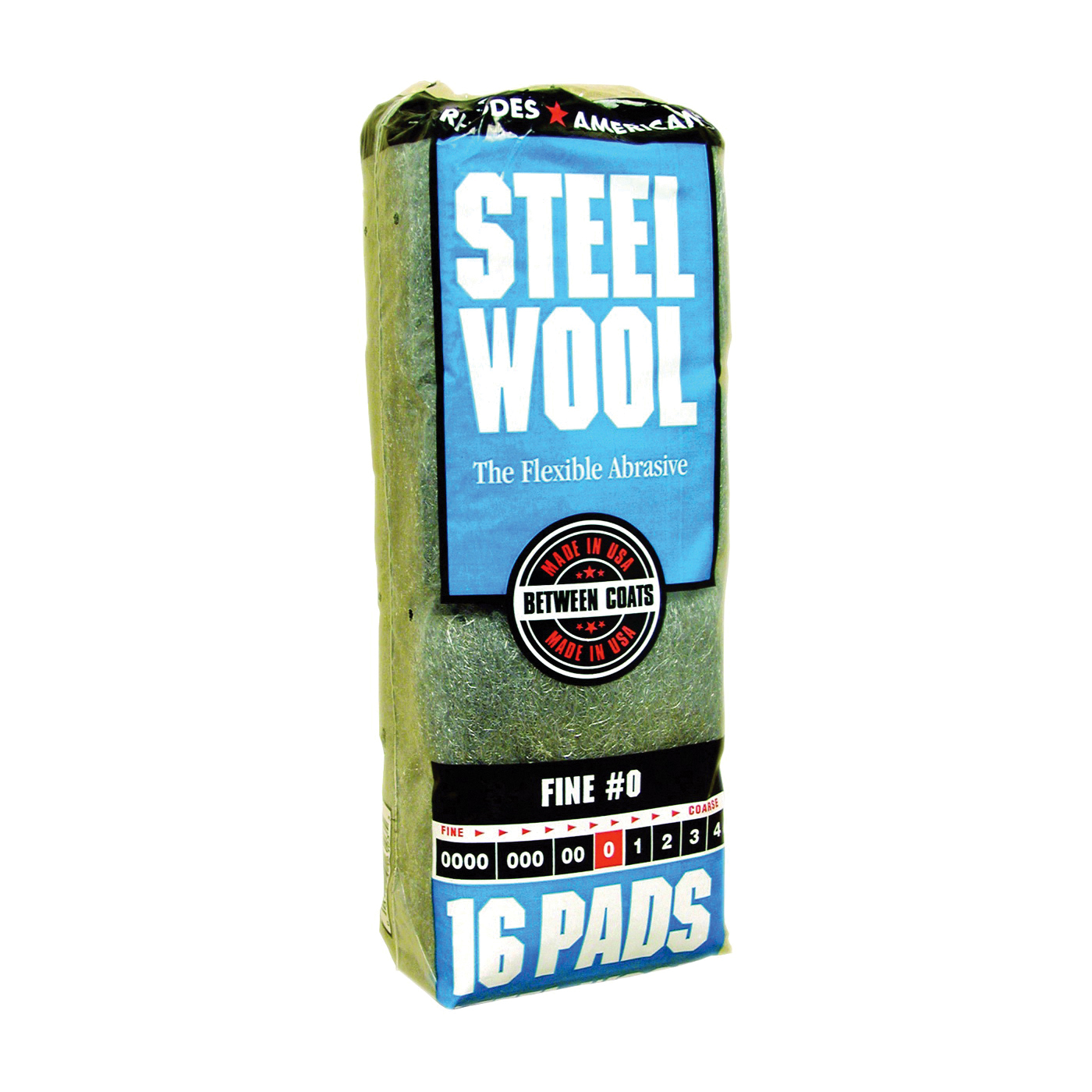 Picture of Homax 106603-06 Steel Wool Pad, #0 Grit, Fine, Gray