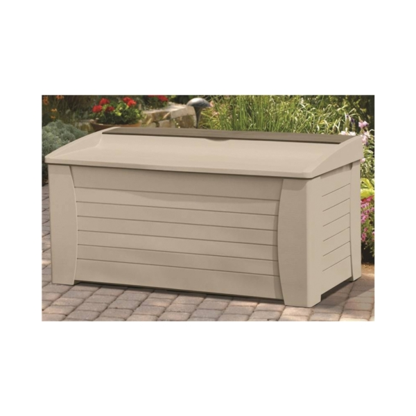 Picture of Suncast DB12000 Deck Box, 54-1/2 in W, 28 in D, 27 in H, Resin, Light Taupe