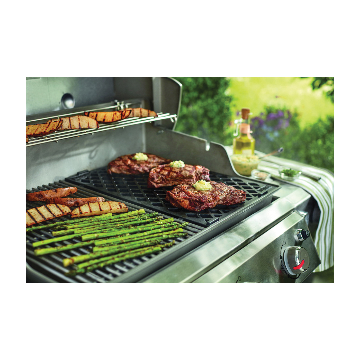 Picture of Weber 8854 Sear Grate, 18.8 in L, 12.9 in W, Cast Iron, Enamel-Coated
