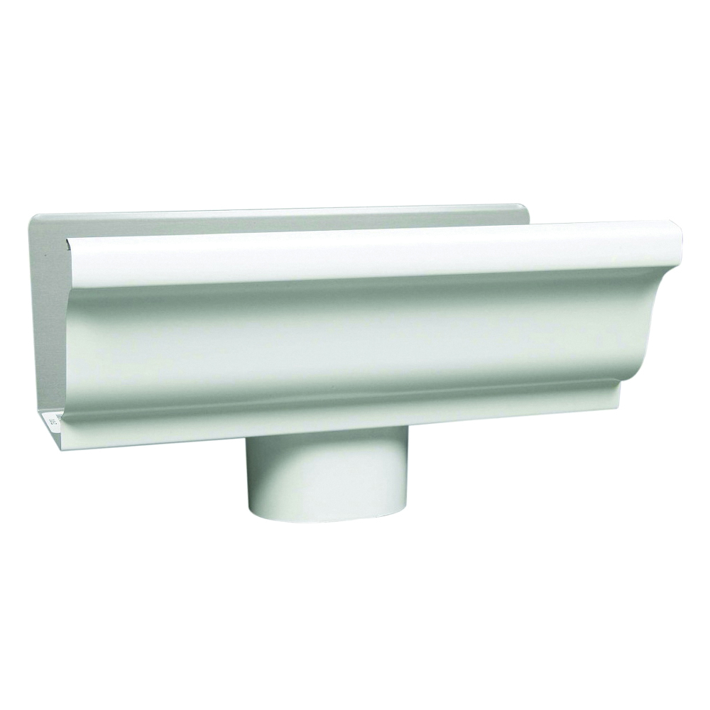 Picture of Amerimax 27080 Gutter End with Drop, 5 in L, 3 in W, Vinyl, White