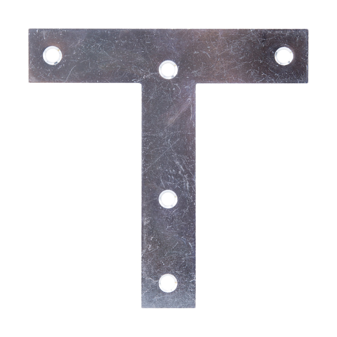 Picture of ProSource TP-Z05-C2PS T-Plate, 5 in L, Steel, Zinc
