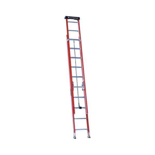 Picture of Louisville L-3022-20PT Extension Ladder, 240 in H Reach, 300 lb, 1-1/2 in D Step, Fiberglass, Orange