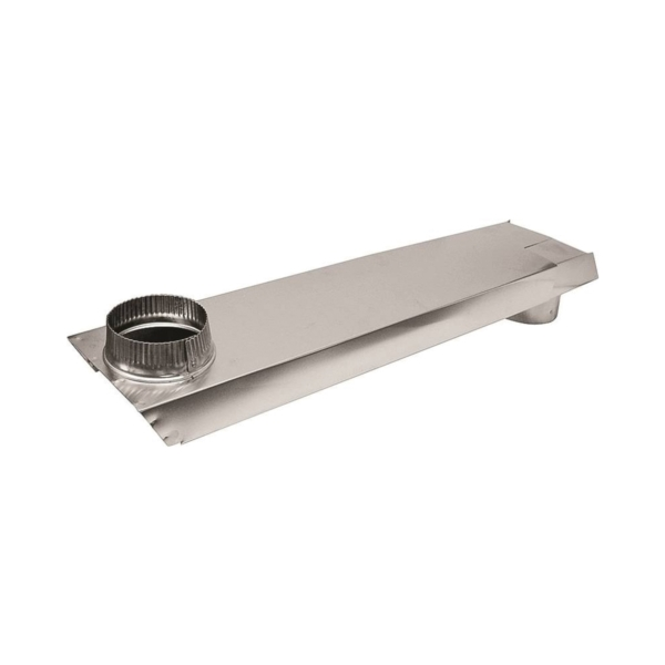 Picture of Lambro 3006 Dryer Vent Duct, 2 in W, 6 in H, 90 deg Angle, Aluminum