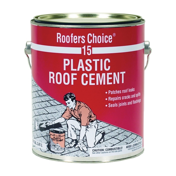 Picture of Henry Roofers Choice 15 Series RC015042 Roof Cement, Liquid, Paste, Petrol, Black, 1 gal Package, Can