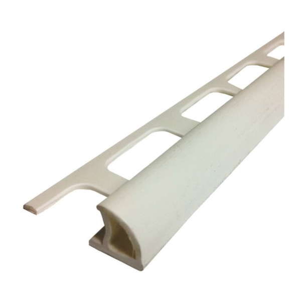 Picture of M-D 84200 Bullnose Tile Edge, 8 ft L, 1-3/8 in W, PVC, White