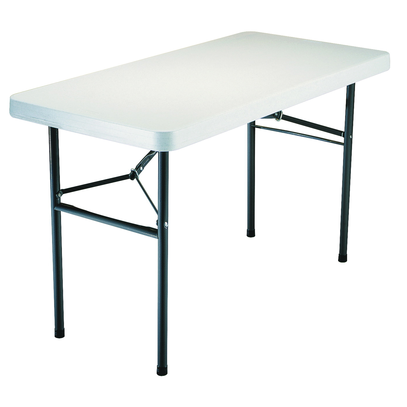 Picture of Lifetime Products 2940 Folding Table, Steel Frame, Polyethylene Tabletop, Gray/White