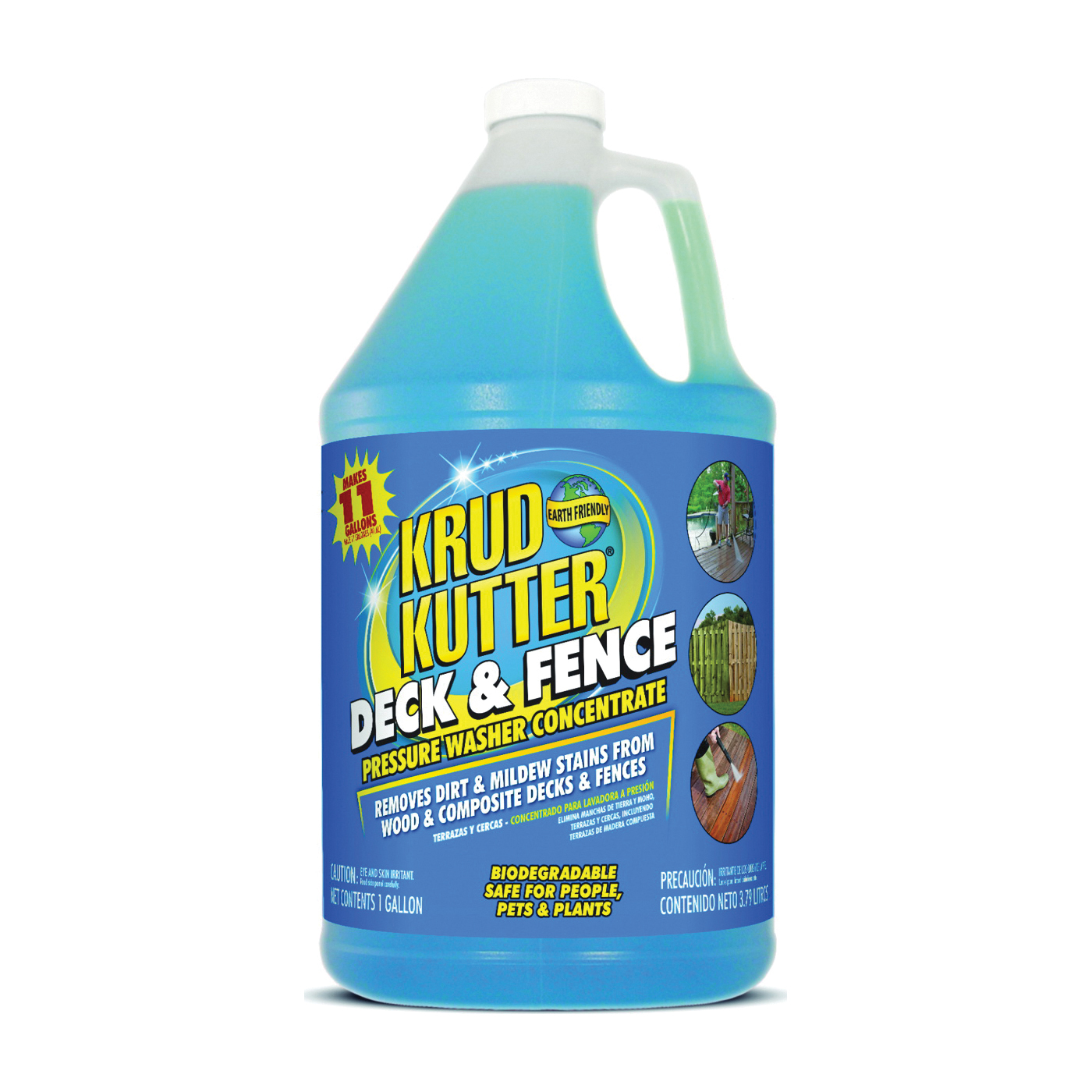 Picture of KRUD KUTTER DF014 Deck and Fence Cleaner, Liquid, Mild, 1 gal Package, Bottle