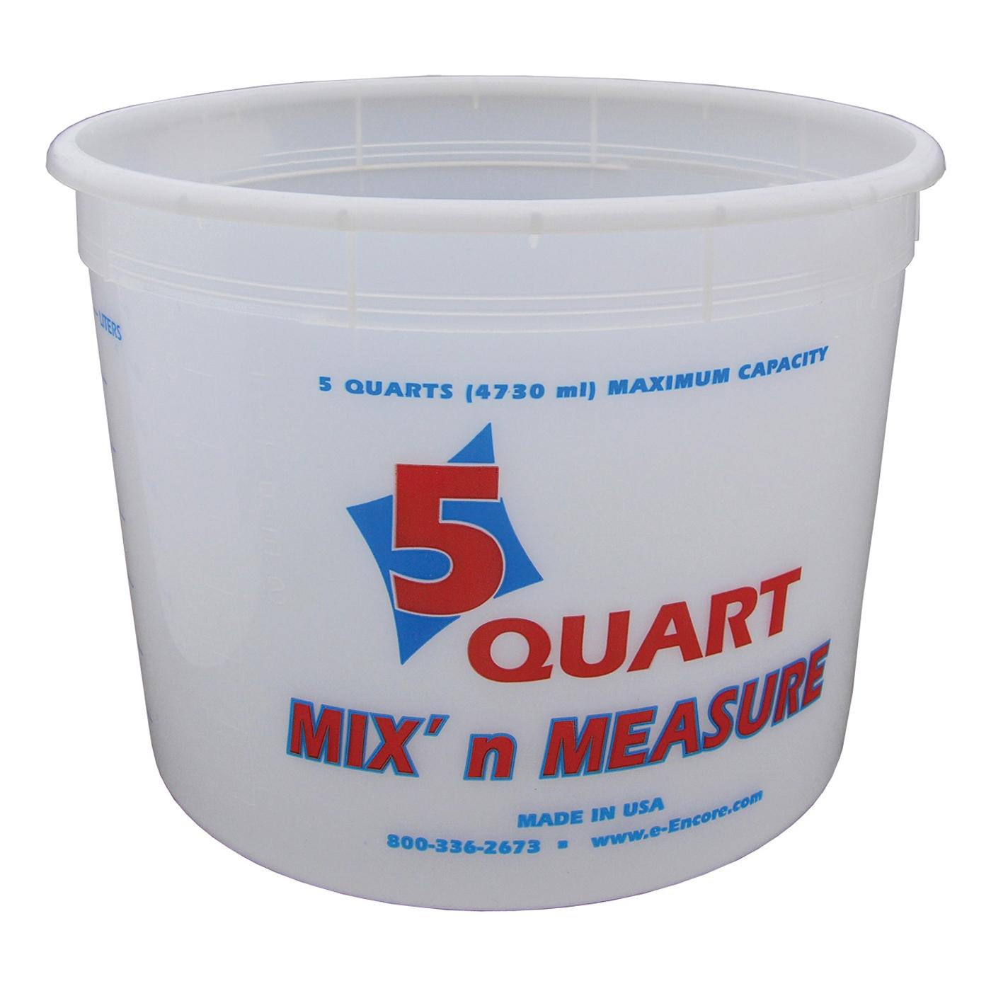 Picture of ENCORE Plastics 300403 Paint Container, 5 qt Capacity, Plastic
