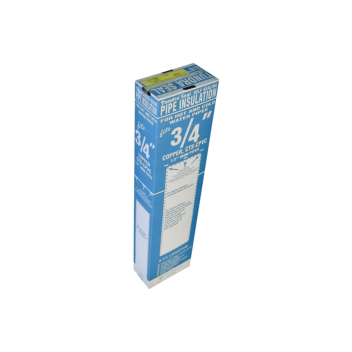 Picture of Tundra PR12078TWTU0 Pipe Insulation, 6 ft L, Polyolefin, Charcoal, 3/4 in Pipe