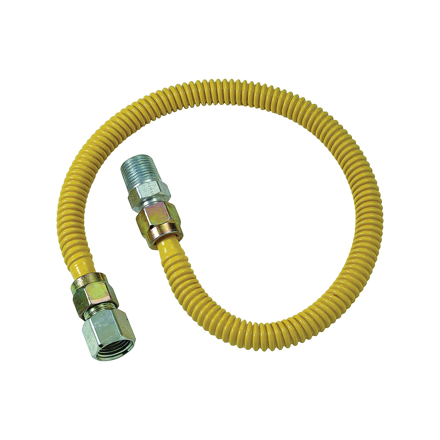 Picture of BrassCraft ProCoat CSSD54-18 Gas Connector, 1/2 in Inlet, 1/2 in Outlet, 18 in L