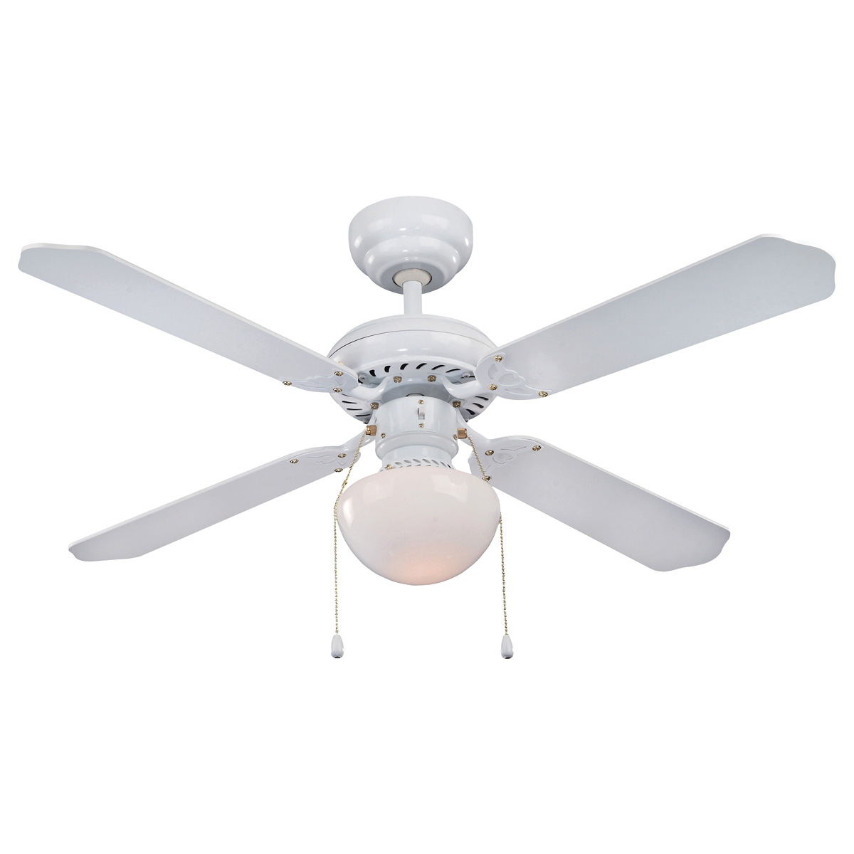 Picture of Boston Harbor CF-78133 Ceiling Fan, 4-Blade, 42 in Sweep, White Housing