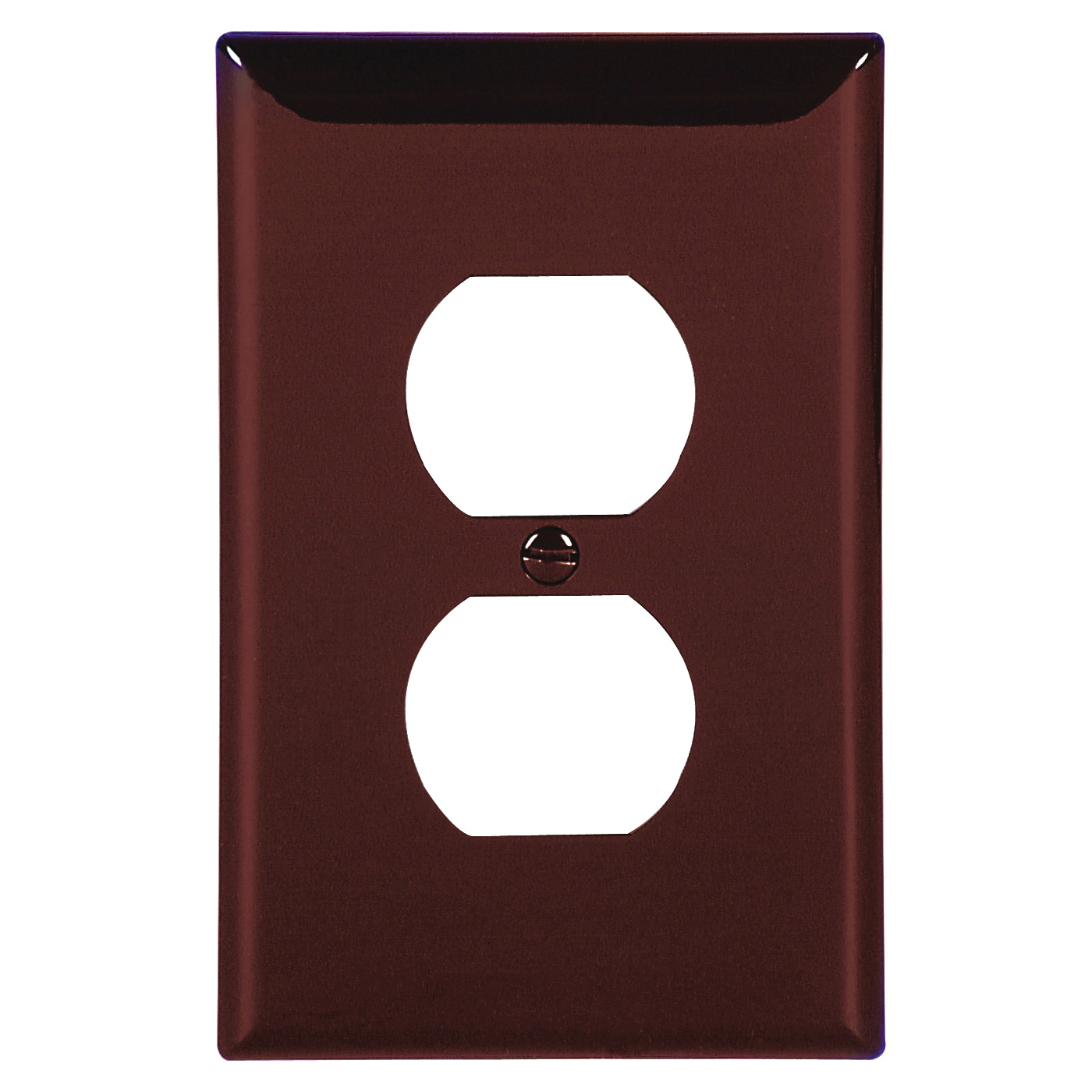 Picture of Eaton Wiring Devices 5132B-BOX Duplex Receptacle Wallplate, 4-1/2 in L, 2-3/4 in W, 1-Gang, Nylon, Brown