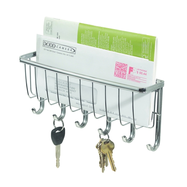Picture of iDESIGN 54270 Mail and Key Rack, Chrome