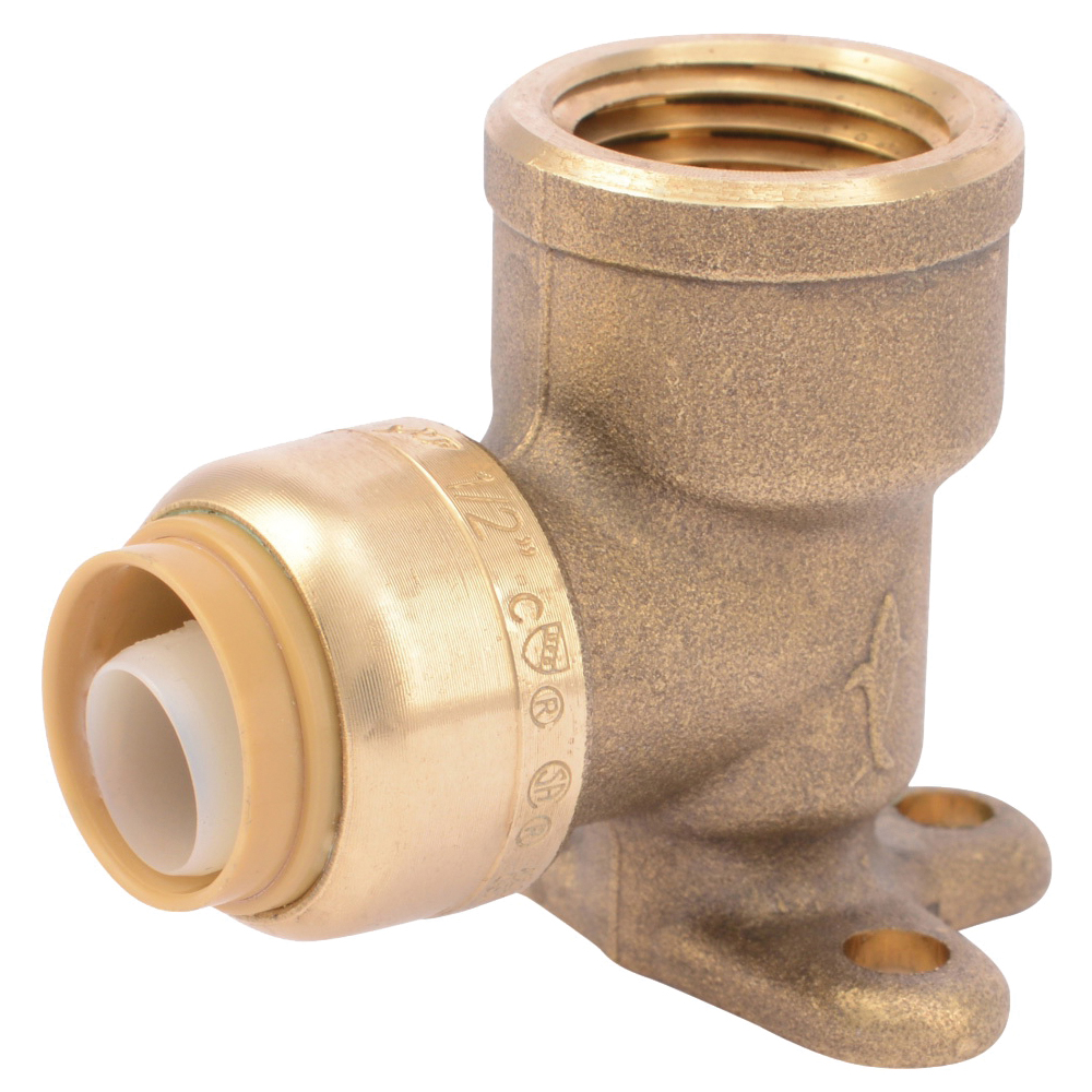 Picture of SharkBite U334LFA Tube to Pipe Elbow, 1/2 in, 1/2 in, 90 deg