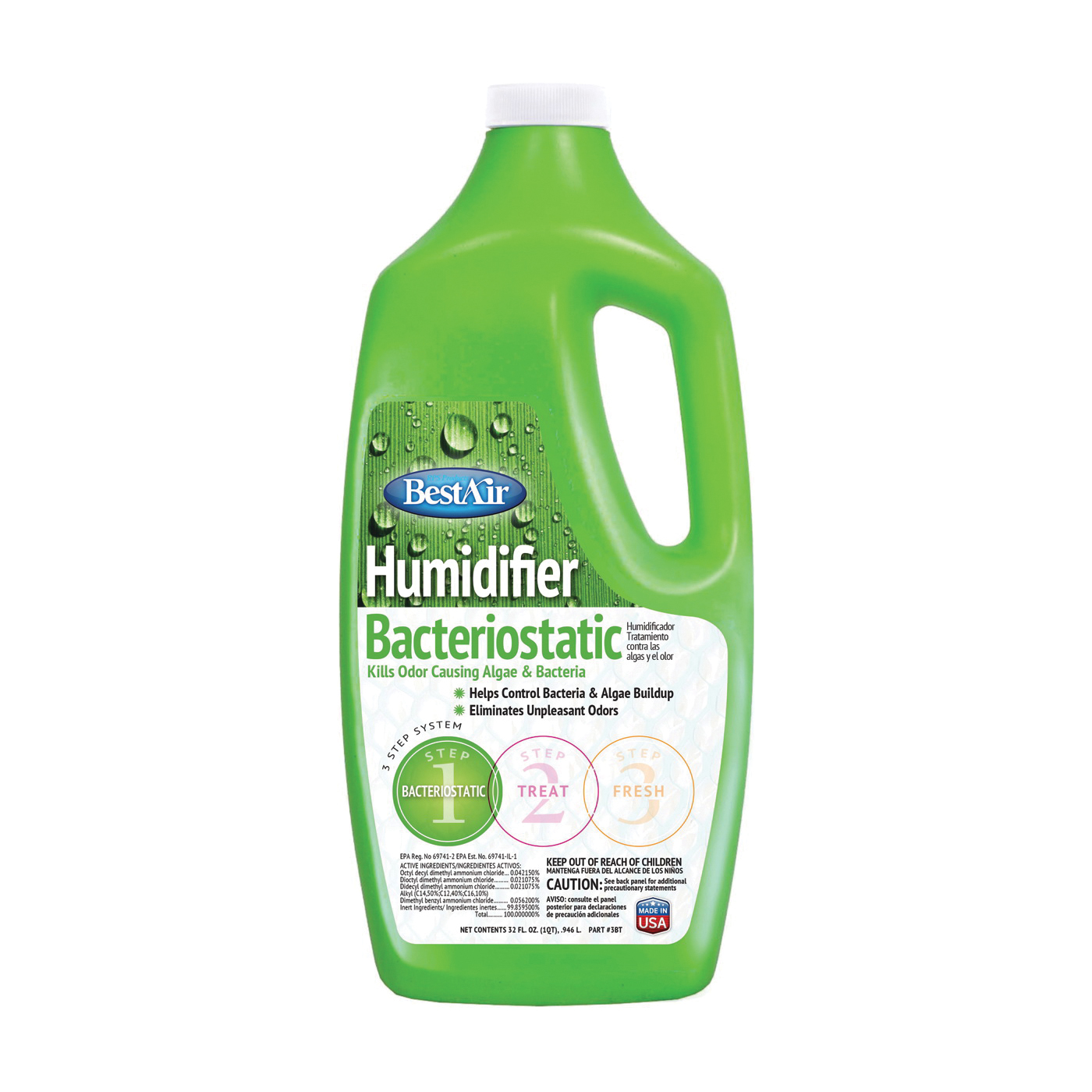 Picture of BestAir 3BT Humidifier Bacteriostatic, Mild, 32 oz Package