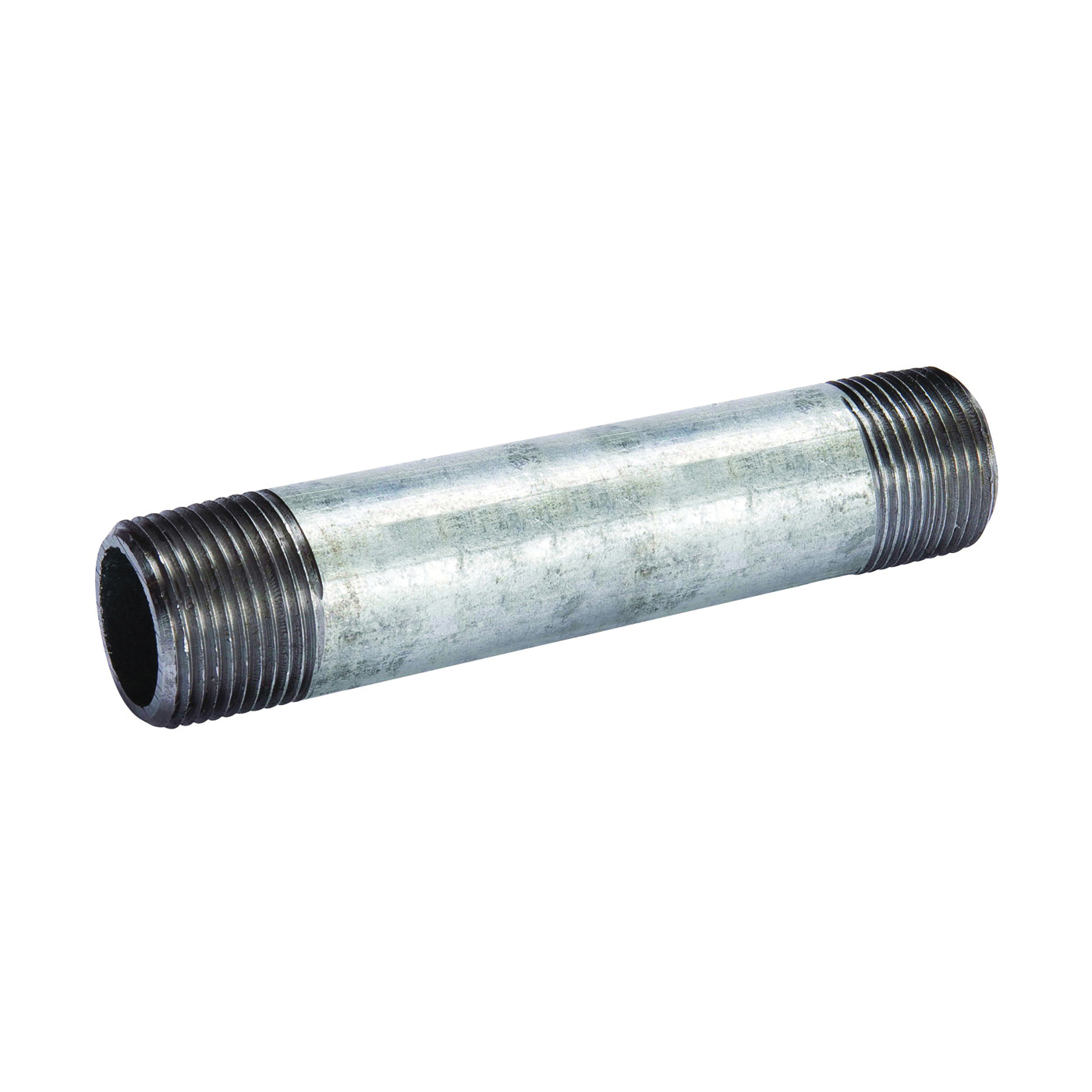 Picture of B & K 570-060BC Pipe Nipple, 3 in, Threaded, Galvanized Steel, SCH 40 Schedule, 6 in L