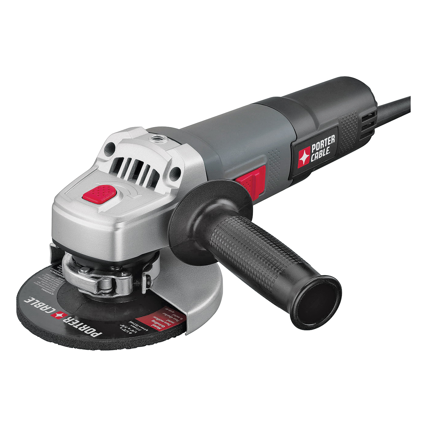 Picture of PORTER-CABLE PCE810 Angle Grinder, 120 V, 6 A, 1500 W, 5/8-11 Spindle, 4-1/2 in Dia Wheel, 11,000 rpm Speed