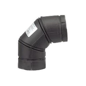 Picture of SELKIRK VP PELLET PIPE 243231B/24230B Stove Pipe Elbow, 90 deg Angle, 3 in, Stainless Steel, Black
