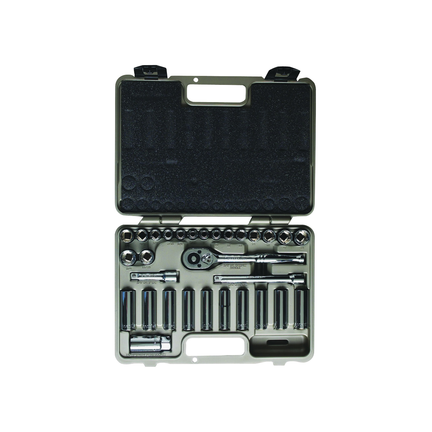 Picture of Crescent Pro Series CTK30SET Socket Set, Chrome Vanadium Steel, Chrome, Specifications: 3/8 in Drive Size