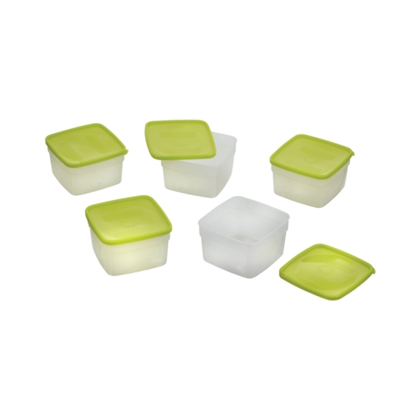 Picture of Arrow Plastic 04201 Storage Container, 1 pt Capacity, Plastic, Clear, 4-1/4 in L, 4-1/4 in W, 6-1/4 in H
