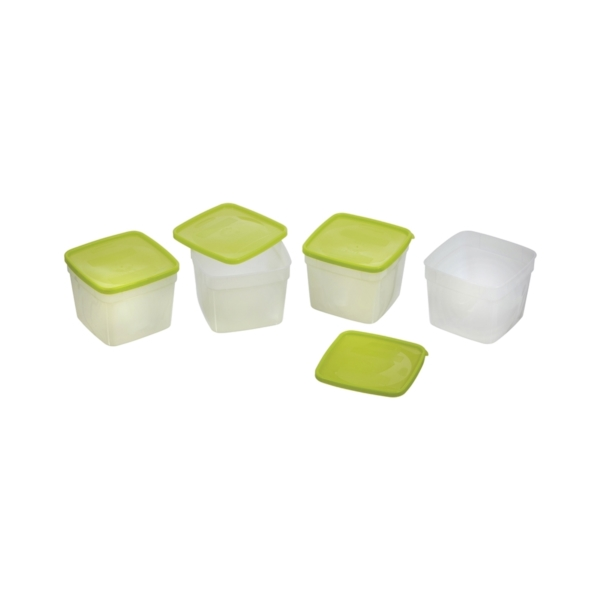 Picture of Arrow Plastic 4305 Storage Container, 1.5 pt Capacity, Plastic, Clear, 4-1/4 in L, 4-1/4 in W, 6-1/4 in H