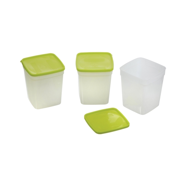 Picture of Arrow Plastic 4405 Storage Container, 1 qt Capacity, Plastic, Clear, 4-1/4 in L, 4-1/4 in W, 7-1/4 in H