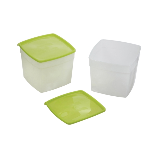 Picture of Arrow Plastic 4505 Storage Container, 0.5 gal Capacity, Plastic, Clear, 6 in L, 6 in W, 6-3/4 in H
