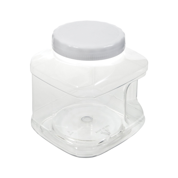 Picture of Arrow Plastic 73801 Stackable Container, 80 oz Capacity, Clear, 5-1/2 in L, 5-3/4 in W, 7-1/4 in H