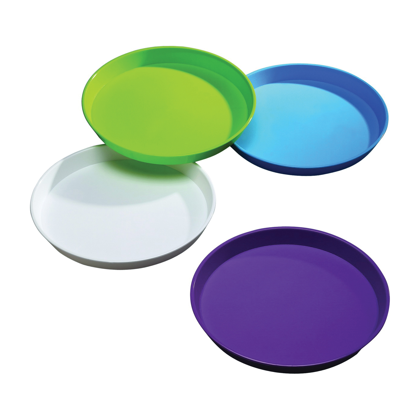 Picture of Arrow Plastic 00198 Round Serving Tray, Round, Plastic, Assorted, 15-3/4 in Dia