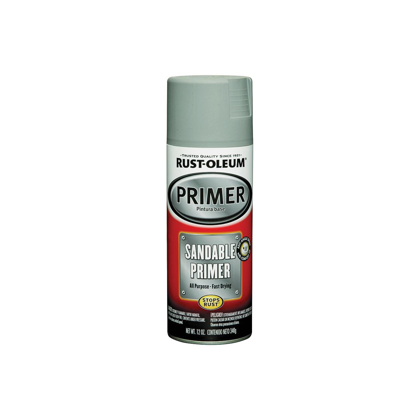 Picture of RUST-OLEUM AUTOMOTIVE 249415 Sandable Primer Spray, Gray, 12 oz, Aerosol Can