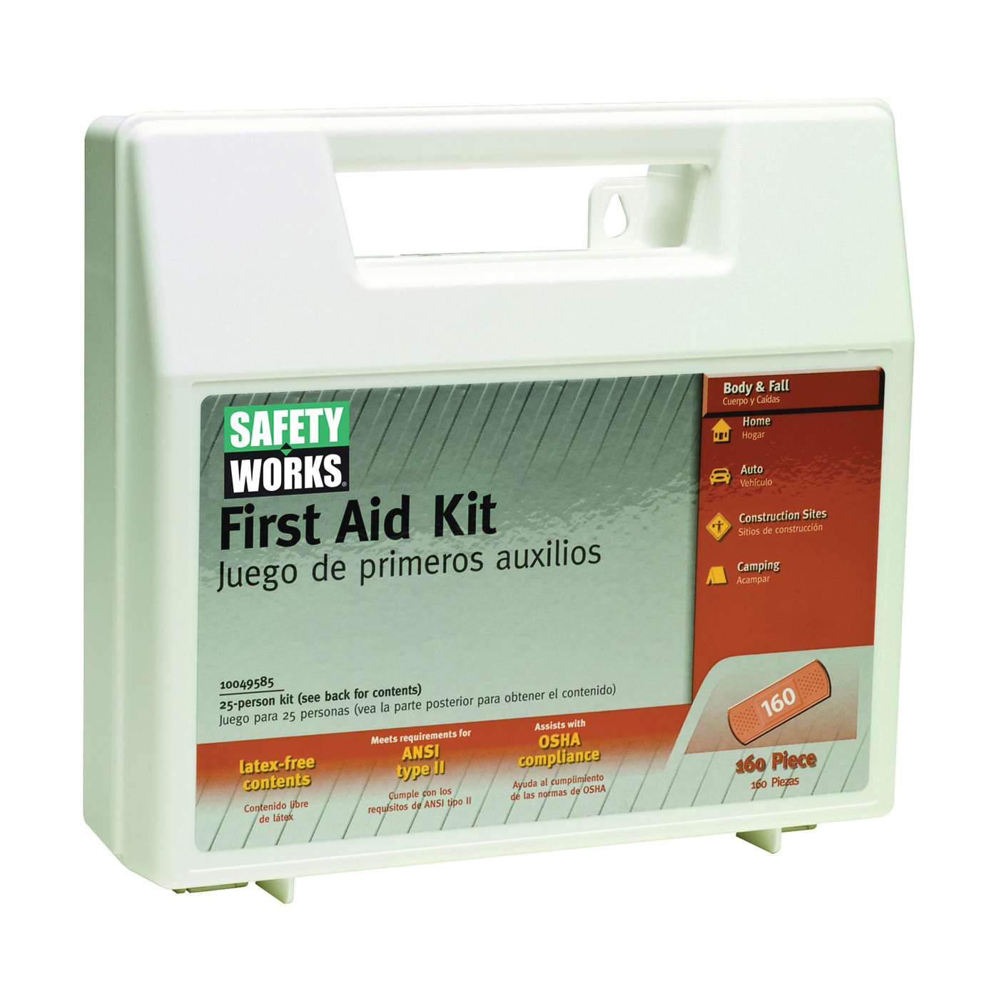 Picture of MSA 10049585 First Aid Kit, 160 -Piece, Plastic