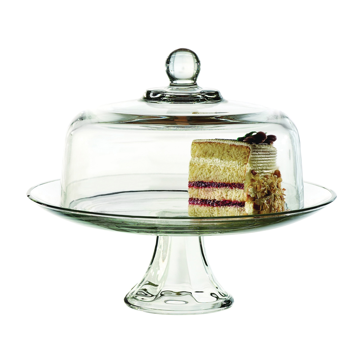 Picture of Oneida Presence 87892L13 Elegance Cake Set, Glass, Clear