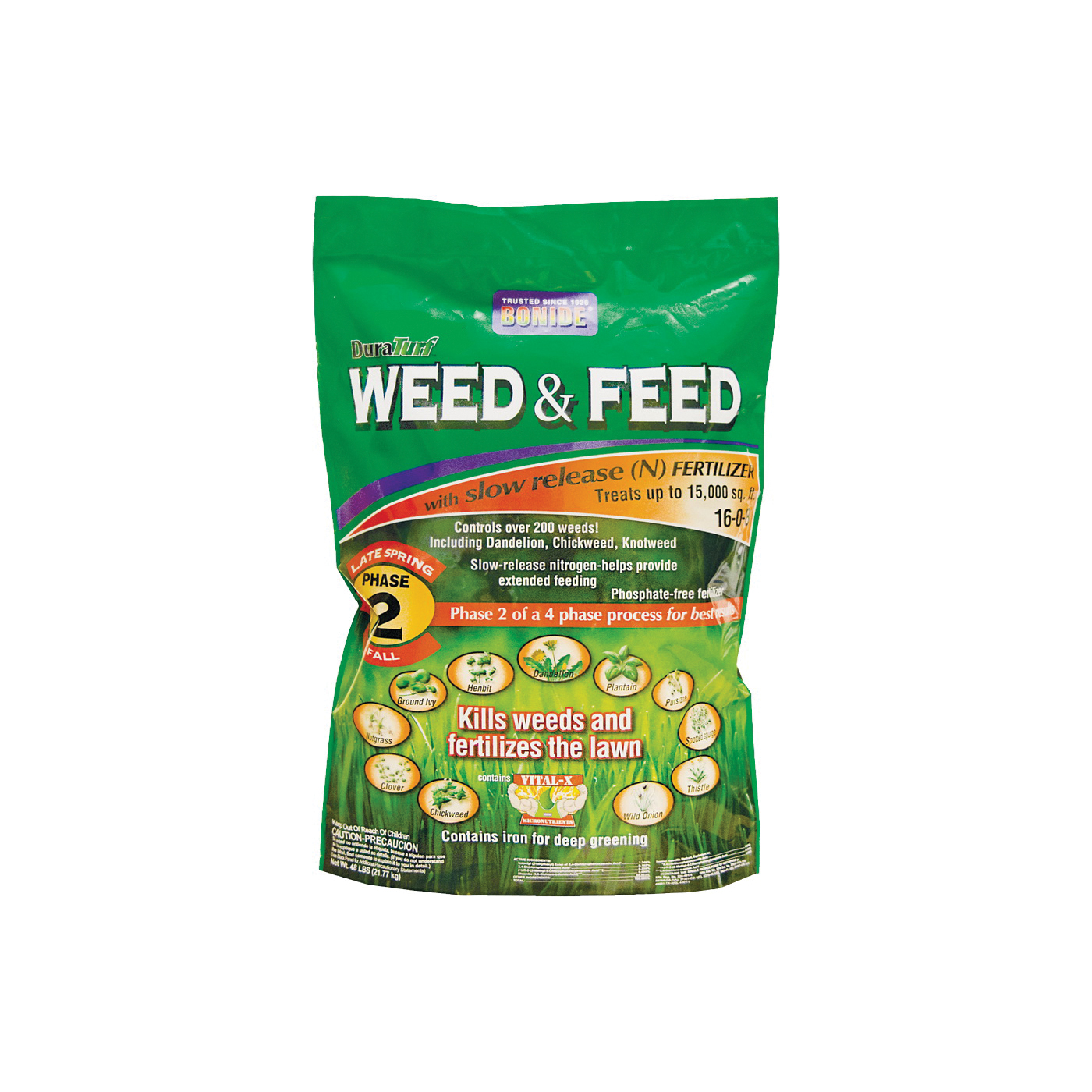 Picture of Bonide 60425 Weed and Feed Fertilizer, Solid, Mild Fertilizer