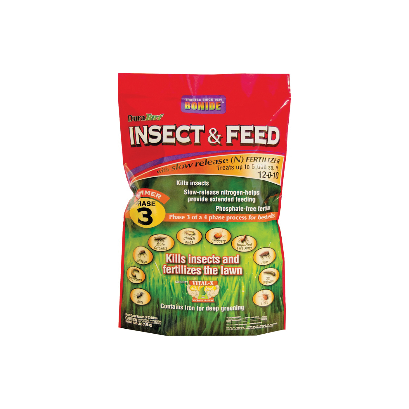 Picture of Bonide 60432 Insect and Feed Fertilizer, Solid, Fertilizer, 16 lb Package