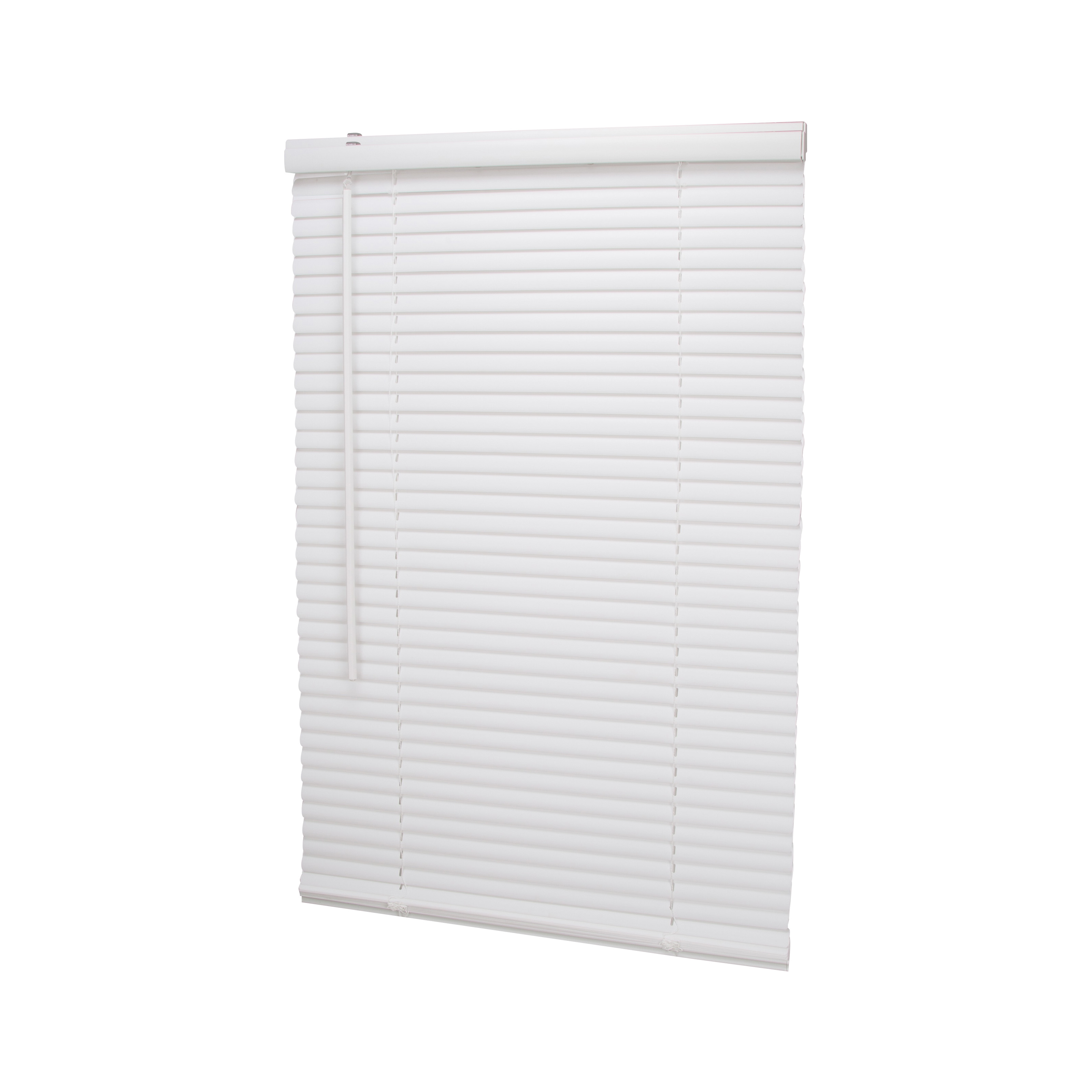 Picture of Simple Spaces PVCMB-0A Cordless Mini Blind, 42 in L, 23 in W, Vinyl, White